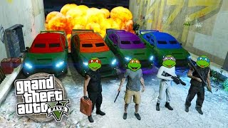 GTA 5 Online NINJA TURTLES Special!!! Teenage Mutant Ninja Turtles GTA Rescue Team! (GTA 5 Gameplay)