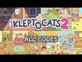 Klep2cats / Kleptocats 2 #ALL safe codes