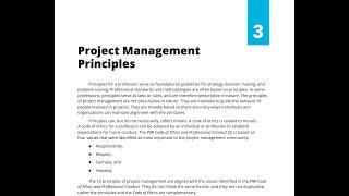 27- SECTION 3 - PROJECT MANAGEMENT PRINCIPLES (STANDARD)