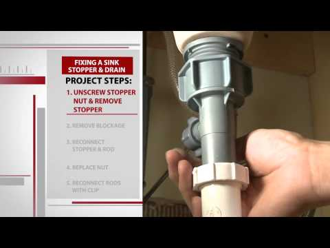 How To Repair A Bathroom Sink Stopper With Mensch With A Wrench