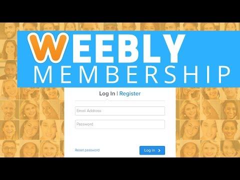 Weebly Membership