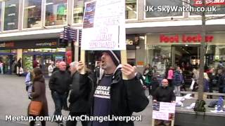 Chemtrail & Geo-Engineering awareness activity - Liverpool 30th March 2013 Liverpool, England