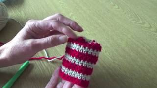 How to crochet in stripes, both in the round and in joined rounds b...