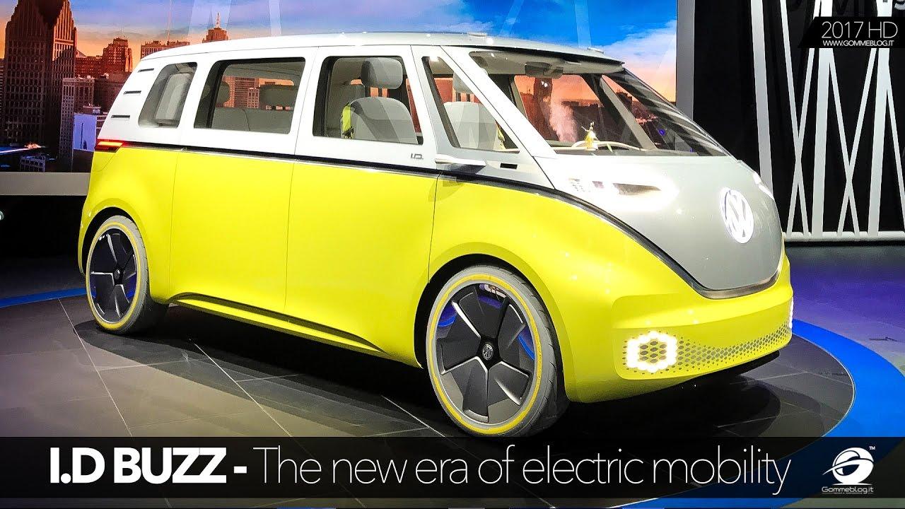 volkswagen id buzz  emission  wheel drive llive naias  youtube