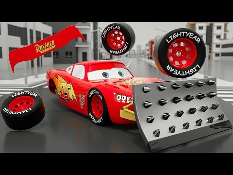 Monster Machine Mcqueen Assembly Wrong Parts   Bingo Song Nursery Rhymes