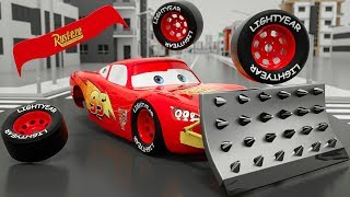 Monster Machine Mcqueen Assembly Wrong Parts | Bingo Song Nursery Rhymes