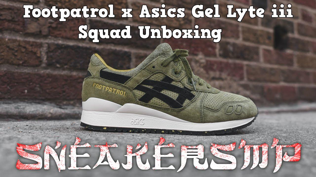 the latest c71a9 02eb3 Footpatrol x Asics Gel Lyte iii Squad Unboxing