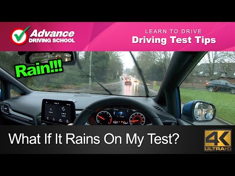 What If It Rains On My Driving Test?  |  Learn to drive: 2019 UK Driving Test