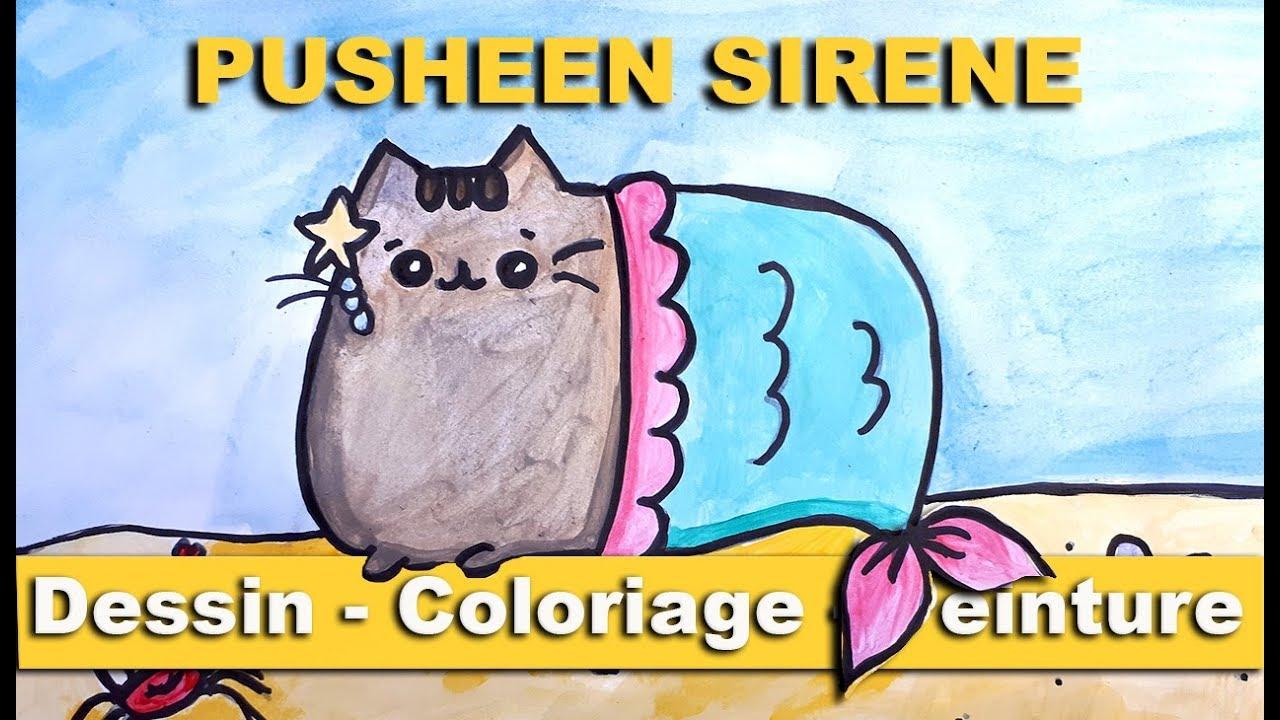 Comment Dessiner Pusheen Sirene Pas A Pas Facile Pour Petis