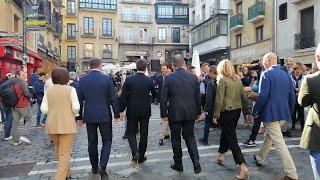 Casado se reúne en el Ayuntamiento de Pamplona con el alcalde y el presidente de UPN