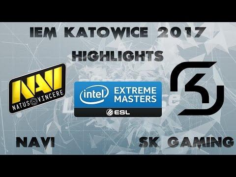NAVI Vs SK GAMING @ IEM KATOWICE 2017 Highlights