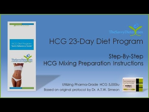 Hcg 23 Day Diet Program Hcg 5000iu Mixing Preparation Instructions
