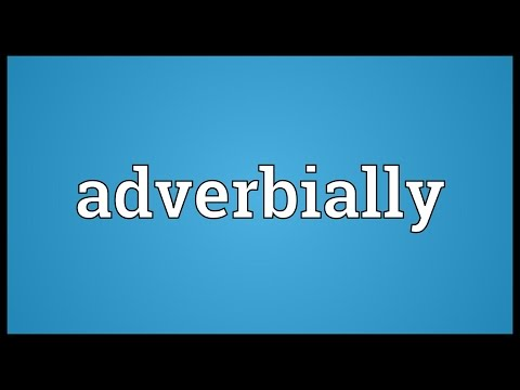 Header of adverbially