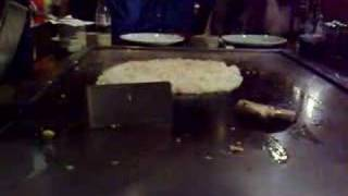 Cooking Fried Rice At Hibachi Grill