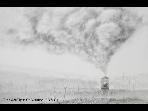 How to Draw Smoke - How to Draw a Realistic Train