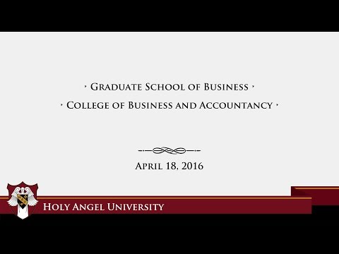 HAU Commencement Excersies: Graduate School of Business, College of Business and Accountancy