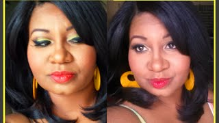 Spring Makeup: Yellow Eye Shadow & Coral Lips
