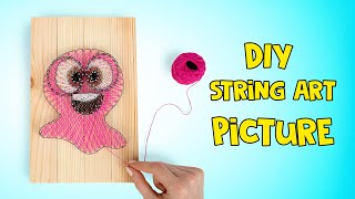 DIY String Art Vase For Your Flowers