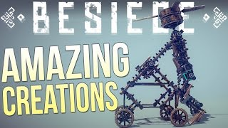 Besiege Alpha Sandbox - Wacky Vehicle Creations - Hover Tank, Old Man, Perpetual Motion