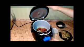 Домашние видео рецепты -  вкусная курица с овощами  в мультиварке