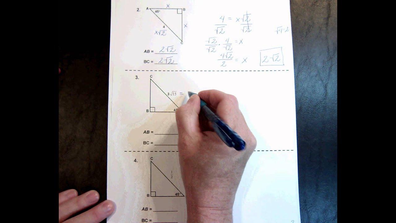 G1 Topic 7 3 45 45 90 Triangles 11 48min Youtube