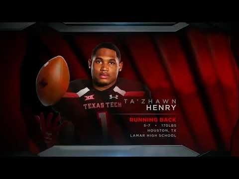 Ta'Zhawn Henry Texas Tech 2018 Freshmen RB  HIGHLIGHTS