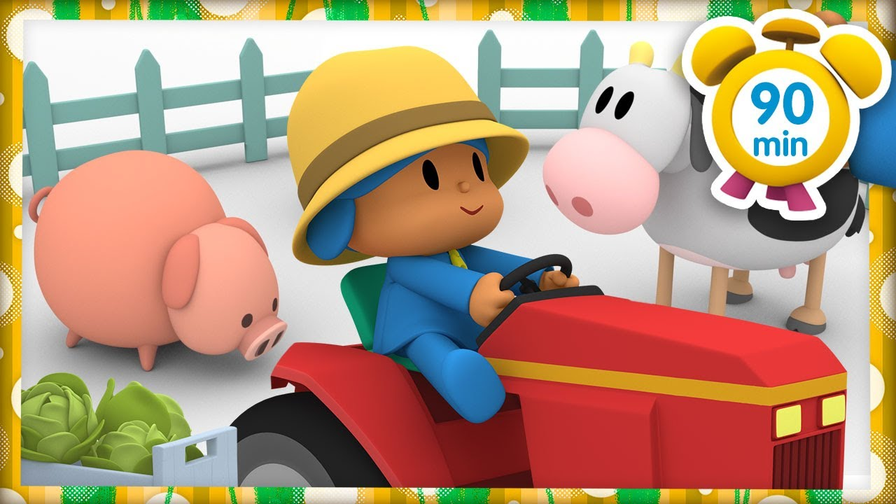 🐷 POCOYO in ENGLISH - A Summer On The Farm [90 min]   Full Episodes   VIDEOS and CARTOONS for KIDS