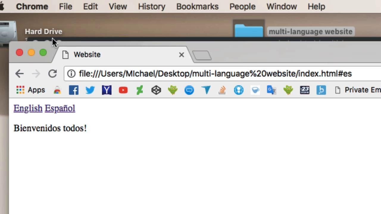 Easy Multi Language Websites in Javascript