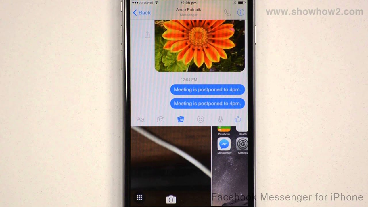 Facebook Messenger For iPhone - How To Send A Photo