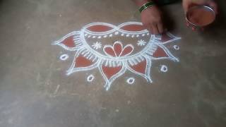 Karthika masam special// velakku Kollam//pandaga muggulu//easy rangoli//25
