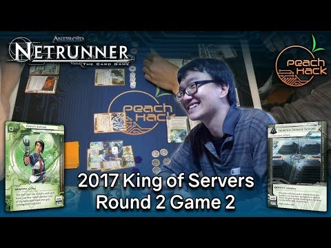 Netrunner - Hayley Kaplan vs. Skorpios Defense Systems - 2017 King of Servers - Round 2 Game 2