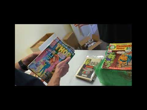 Unboxing Silver Age Comic Books from Marvel, Gold Key and DC | SellMyComicBooks.com