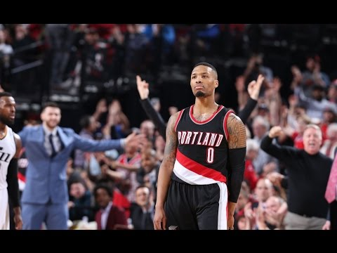 Damian Lillard CAREER and BLAZERS FRANCHISE HIGH 59 POINTS | April 8, 2017