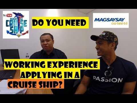 Do you need WORKING EXPERIENCE applying in a CRUISE SHIP? (Buhay sa Cruise Ship)