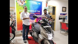 Taking Delivery of 2018's The All New TVS Ntorq 125 : TVS Speed Wheels THANE , MUMBAI , INDIA