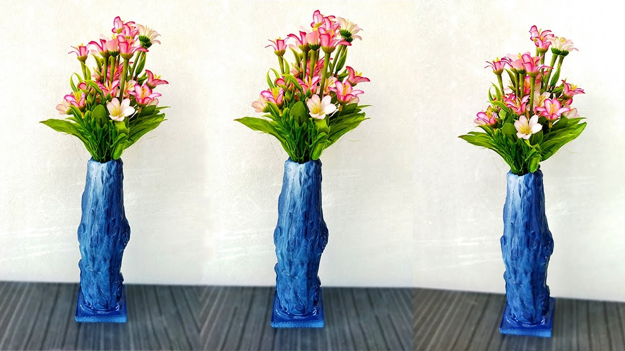 Super Flower Vase Idea from Cement | How to Make Flower Vase for Home Decoration