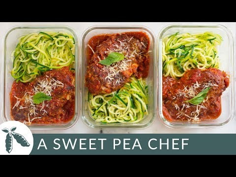 How To Meal Prep Healthy Chicken Parmesan   Under 350 Calories!   A Sweet Pea Chef
