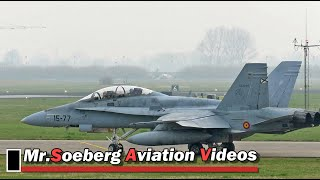 FRISIAN FLAG 2018, Morning Departures PART 1/3; Leeuwarden AB.