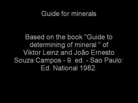 Guide for minerals