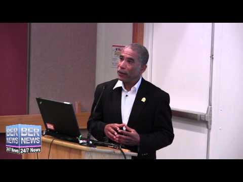 Craig Simmons At Bermuda College Lecture, October 2 2014