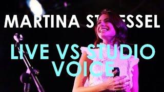 MARTINA STOESSEL - LIVE VS STUDIO VOICE