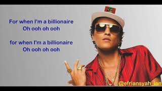 Download lagu Lirik Lagu Billionaire Bruno Mars ft Travie McCoy MP3