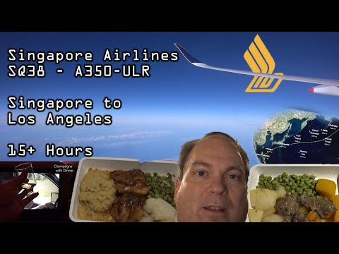 Trip Report   Singapore Airlines A350ULR   Singapore To Los Angeles   Premium Economy Seat