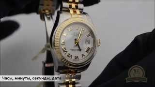 Швейцарские часы Rolex DateJust Lady.(Обзор. Краткая характеристика часов Rolex Datejust Lady. Часовщик - ремонт швейцарских часов www.chasovshik.ua www.facebook.com/chasovsh..., 2014-07-21T12:49:35.000Z)
