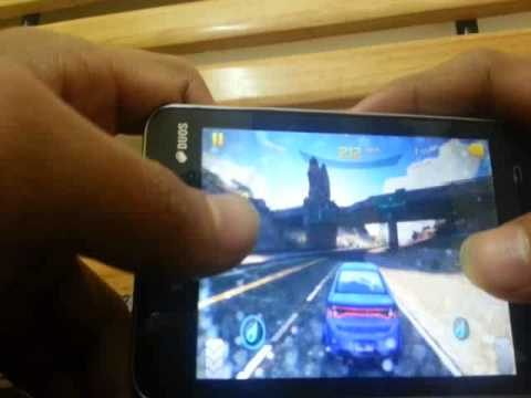 Samsung z1 game demo -Asphalt 8