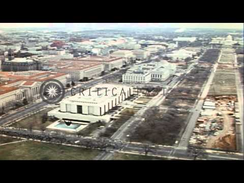 Aerial views of Pennsylvania Avenue in Washington DC, United States during the pr...HD Stock Footage