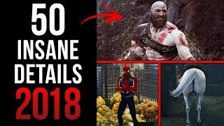 TOP 50 INSANE Details in Video Games 2018 (Part 1)