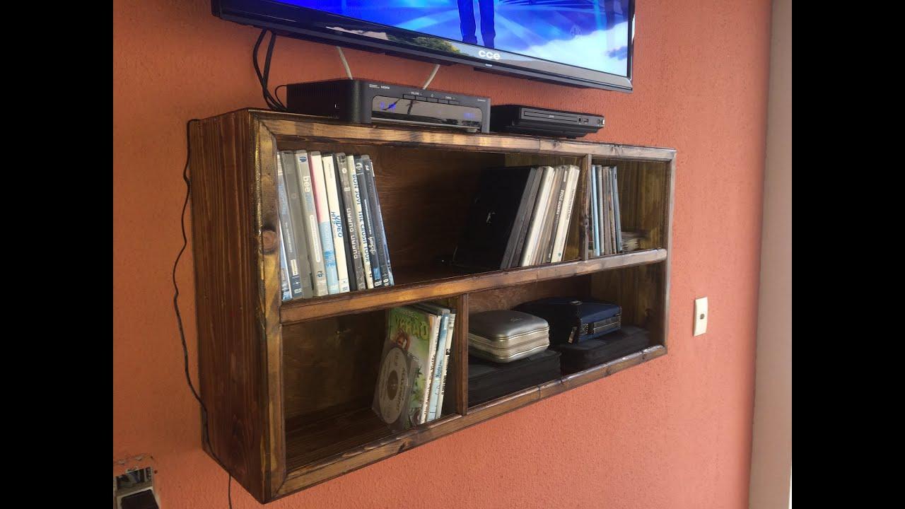 Marcenaria Como fazer Estante de madeira reciclada para dvd e cd  #0A45C1 3000x2250