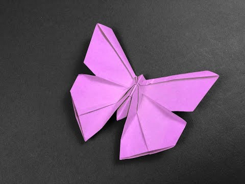 ORIGAMI BUTTERFLY   CRAFT PAPER ART   ANIMALS
