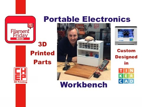 Portable Electronics Workbench with 3D Printed Parts